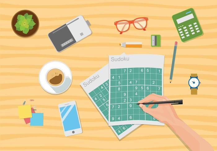 Gratis Sudoku Illustration vektor