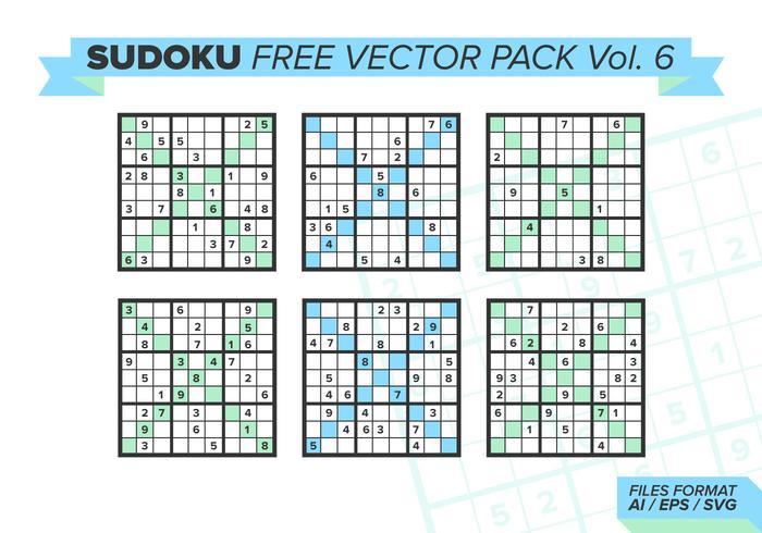 Sudoku pack vectoriel gratuit vol. 6