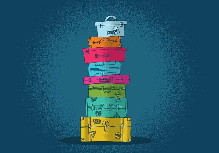 Vecteurs de valises colorés vecteur