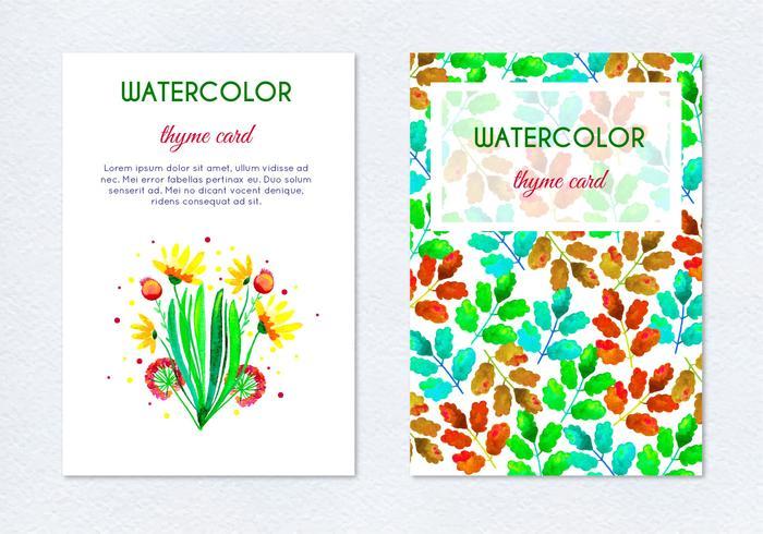 Free Vector Hand gezeichnet Aquarell Kraut Blumenkarten