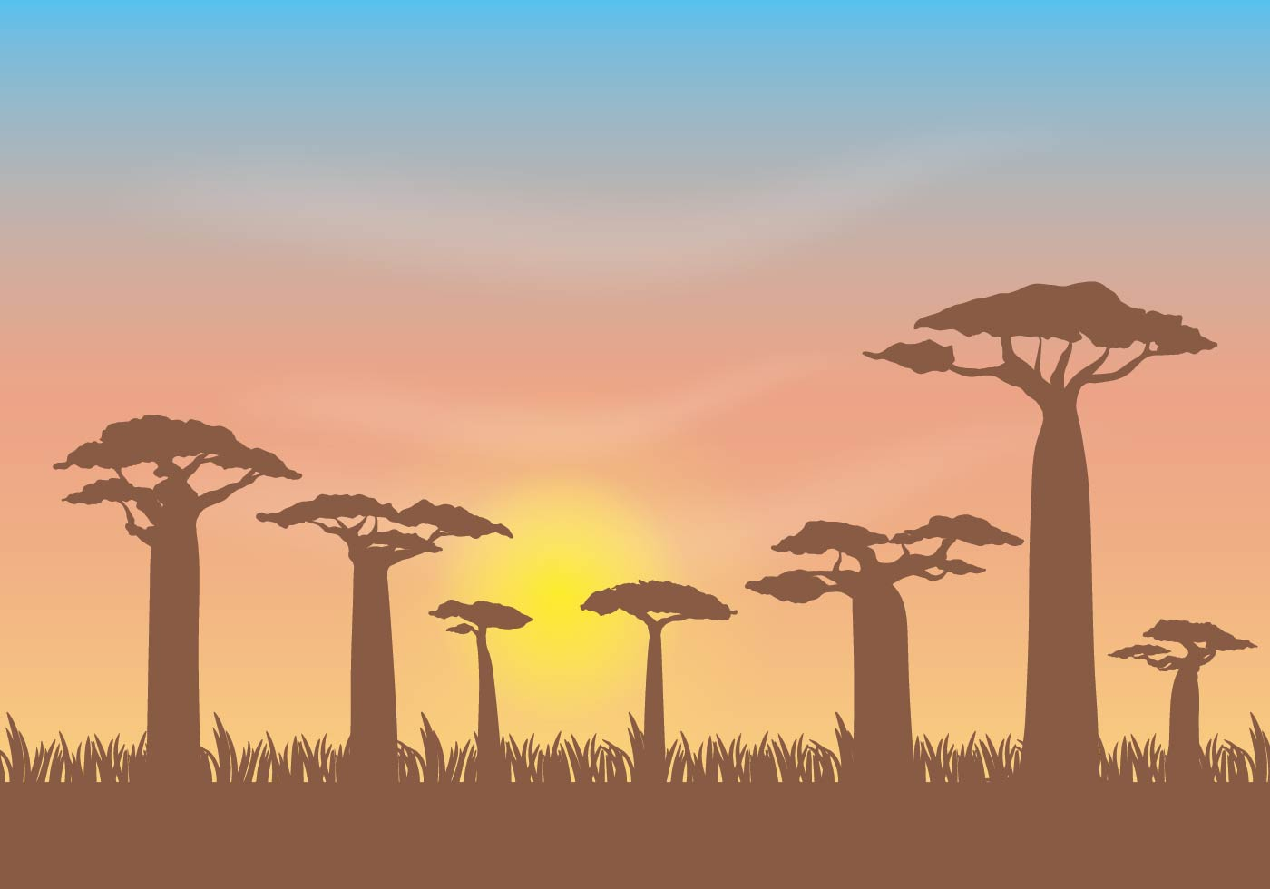 Free Baobab Vector Illustration Download Free Vectors