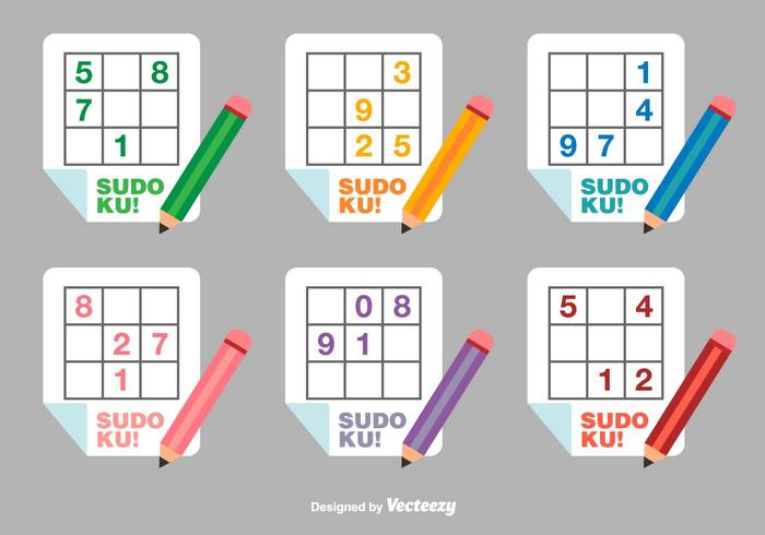 Sudoku Flat Vector Icons
