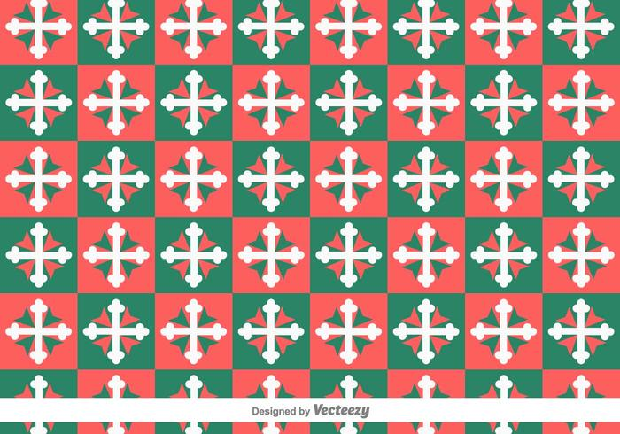 Maltese Cross Geometric Vector Pattern