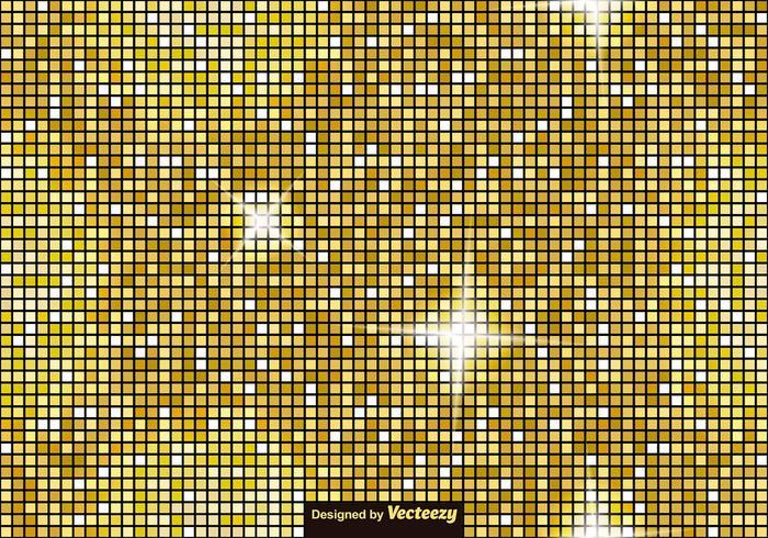 Vector Golden Tiles - Padrão sem costura de vetor de luxo