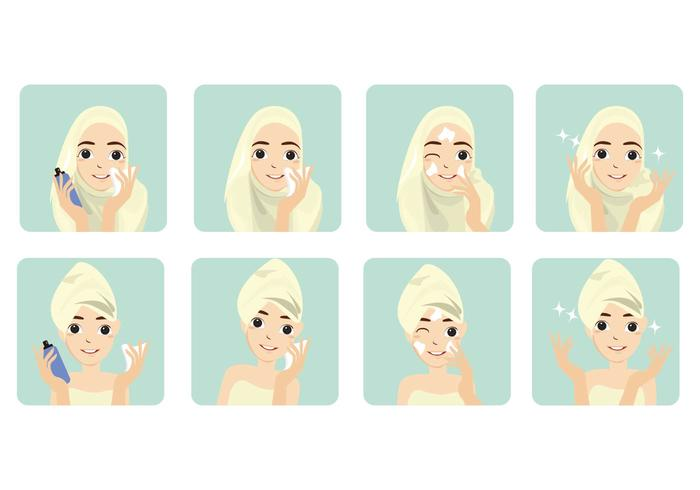 Gratis Basic Step Women Face Toner Vector
