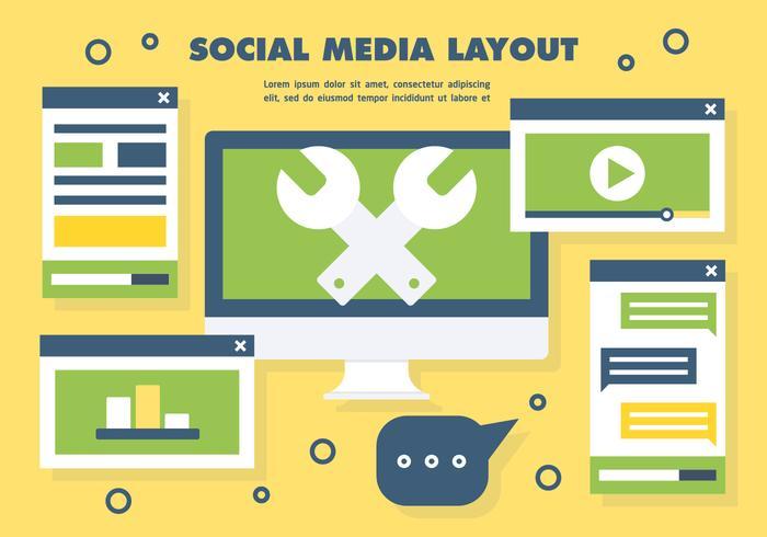 Vector de diseño de medios sociales