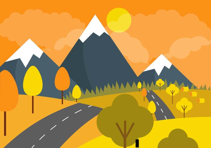 Vector Autumn Skies Landscape
