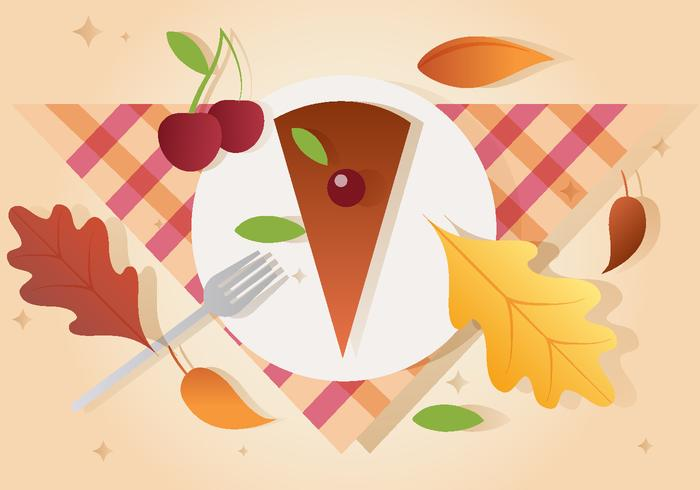 Gratis Vector Thanksgiving Piece Pie