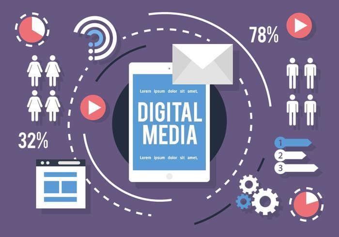 Social Media Infographie Vector