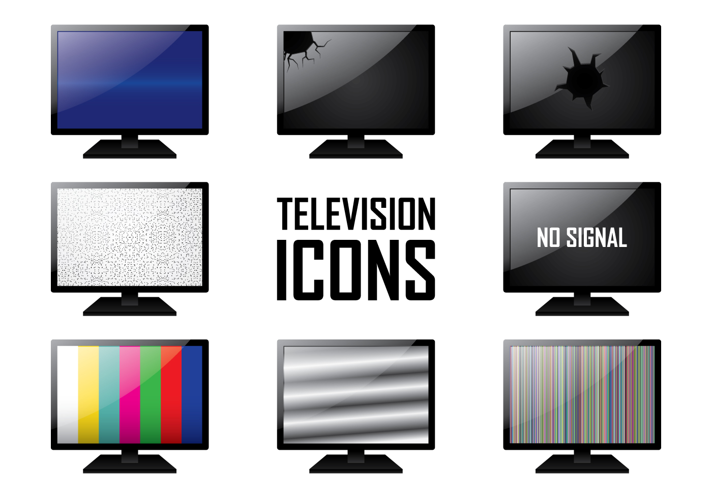 tv icon free vector art