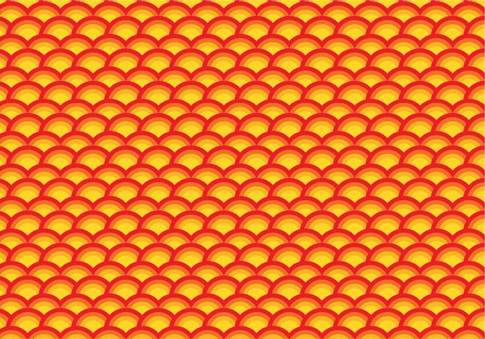 Orange scallop repeating pattern