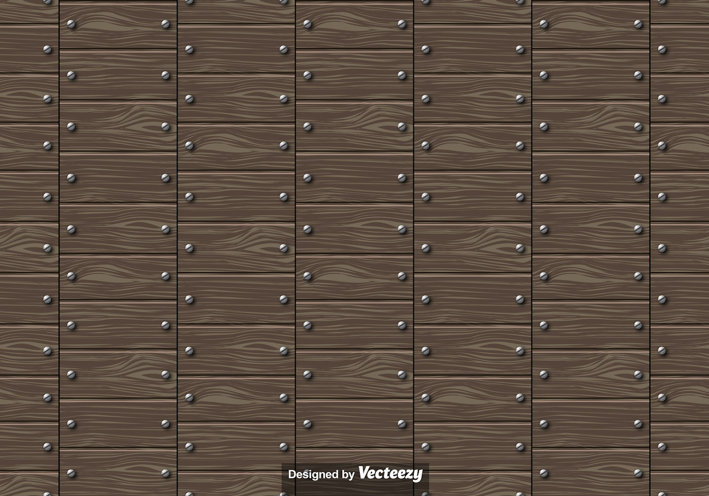 Vector Seamless Pattern Of Wooden