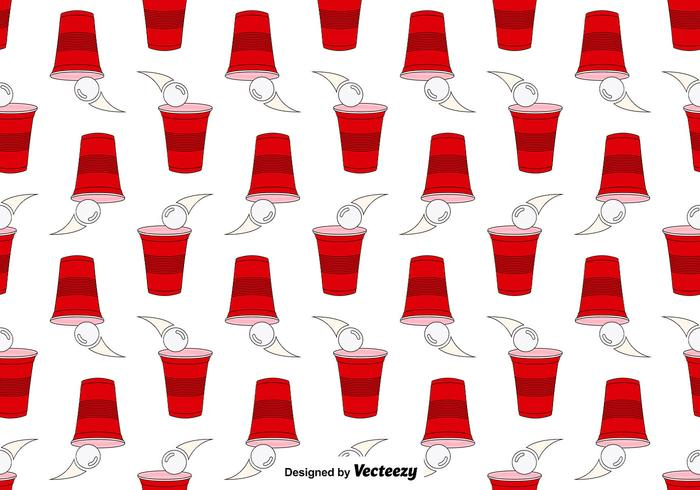 Vector Seamless Pattern Of Beer Pong Game
