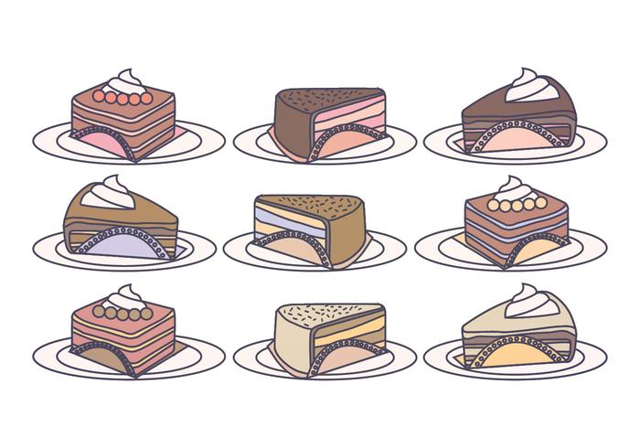 Vector Cake Slices