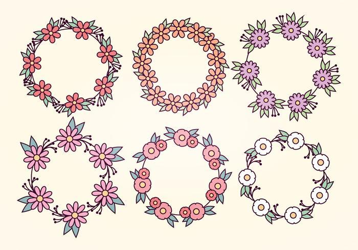 Guirnaldas florales del vector