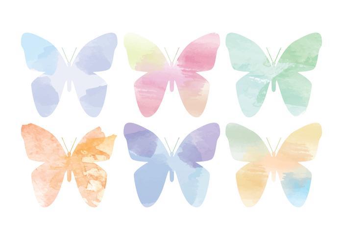 Vector Watercolor Butterflies