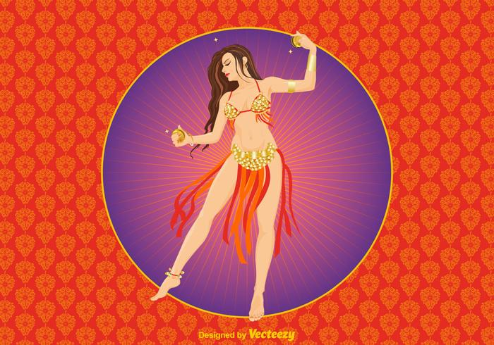 Free Bollywood Dancer Vector Illustration
