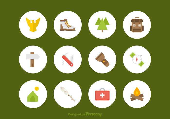Free Flat Scouts Vector Icons