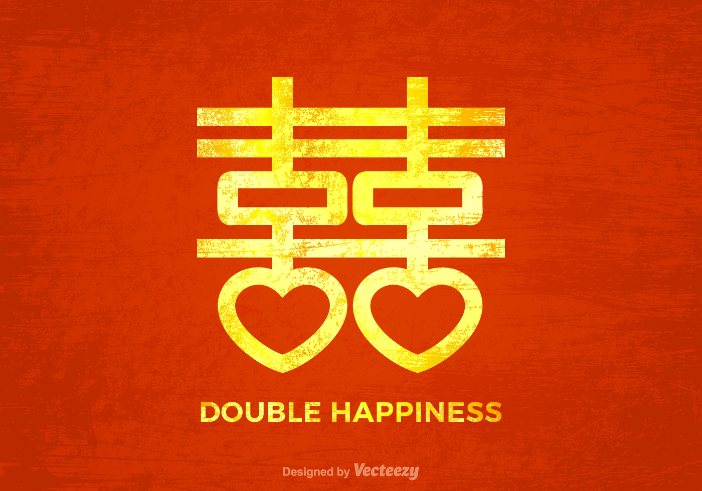 Free Grunge Chinese Wedding Vector Background