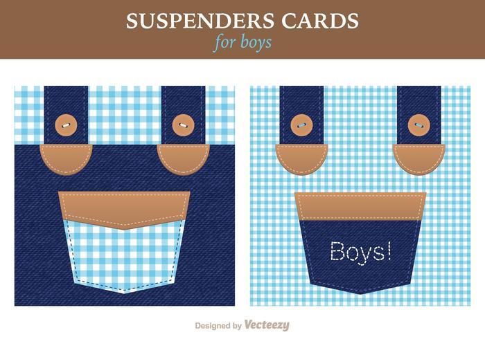 Free Vector Suspenders Card