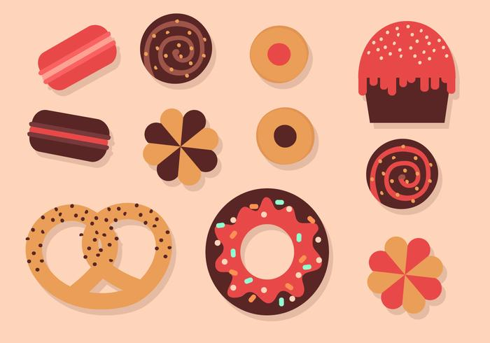 Free Bakery Elements Vector