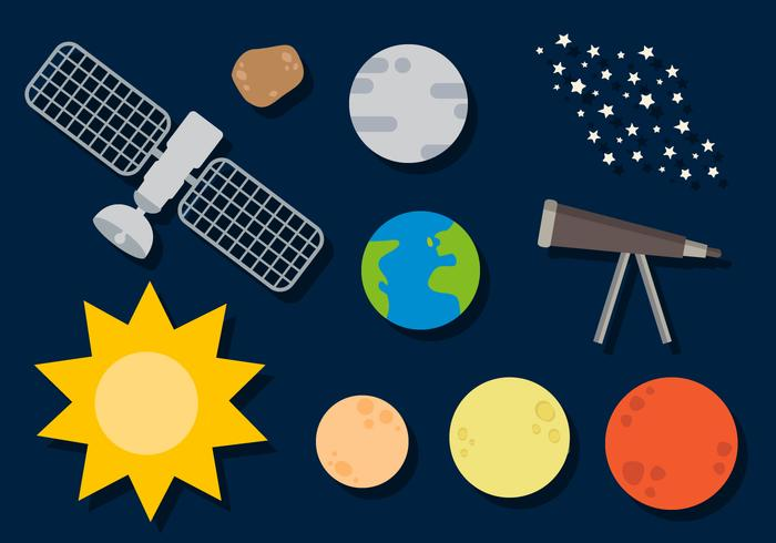 Vetor de planetas grátis