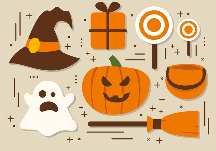 Gratis Halloween Elements Vector Collection