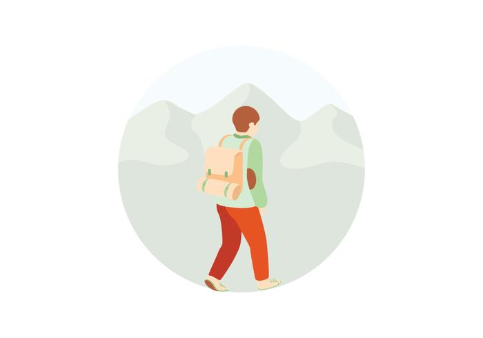Hiking Illustration