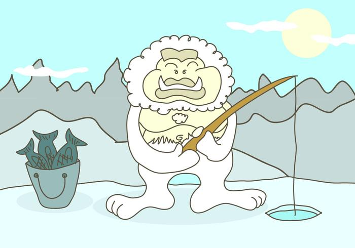 Yeti Cartoon Illustration Vektor