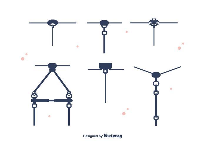 Zipline Set Vector