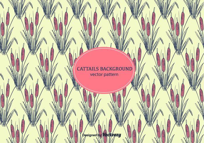 Cattails Background Vector