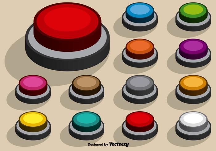 Collection Of Vector Colorful Arcade Buttons