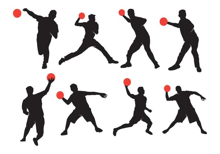 Active Dodgeball Silhouette