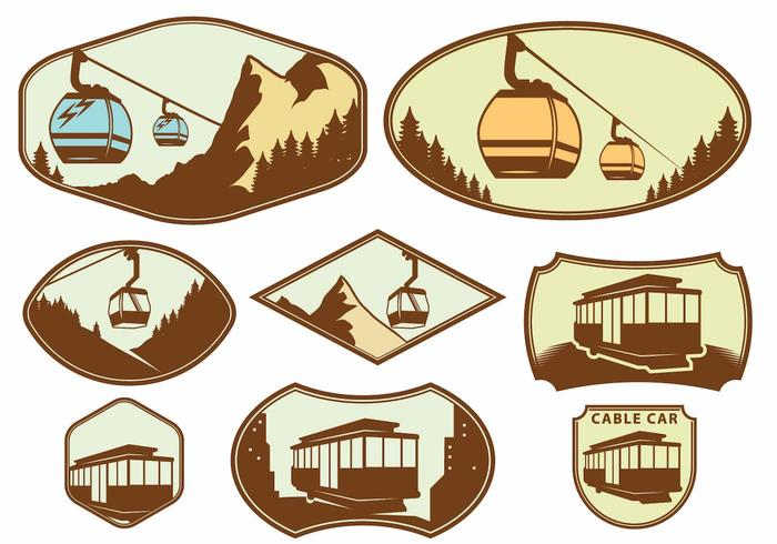 Cable Car Badge Set