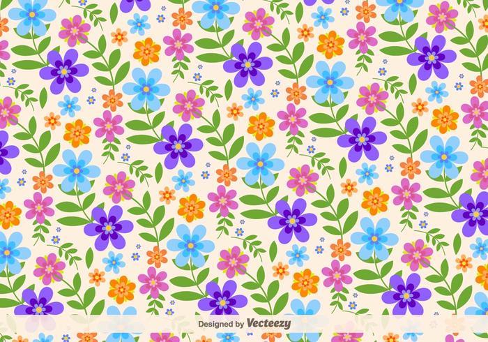 Floral Retro Vector Background