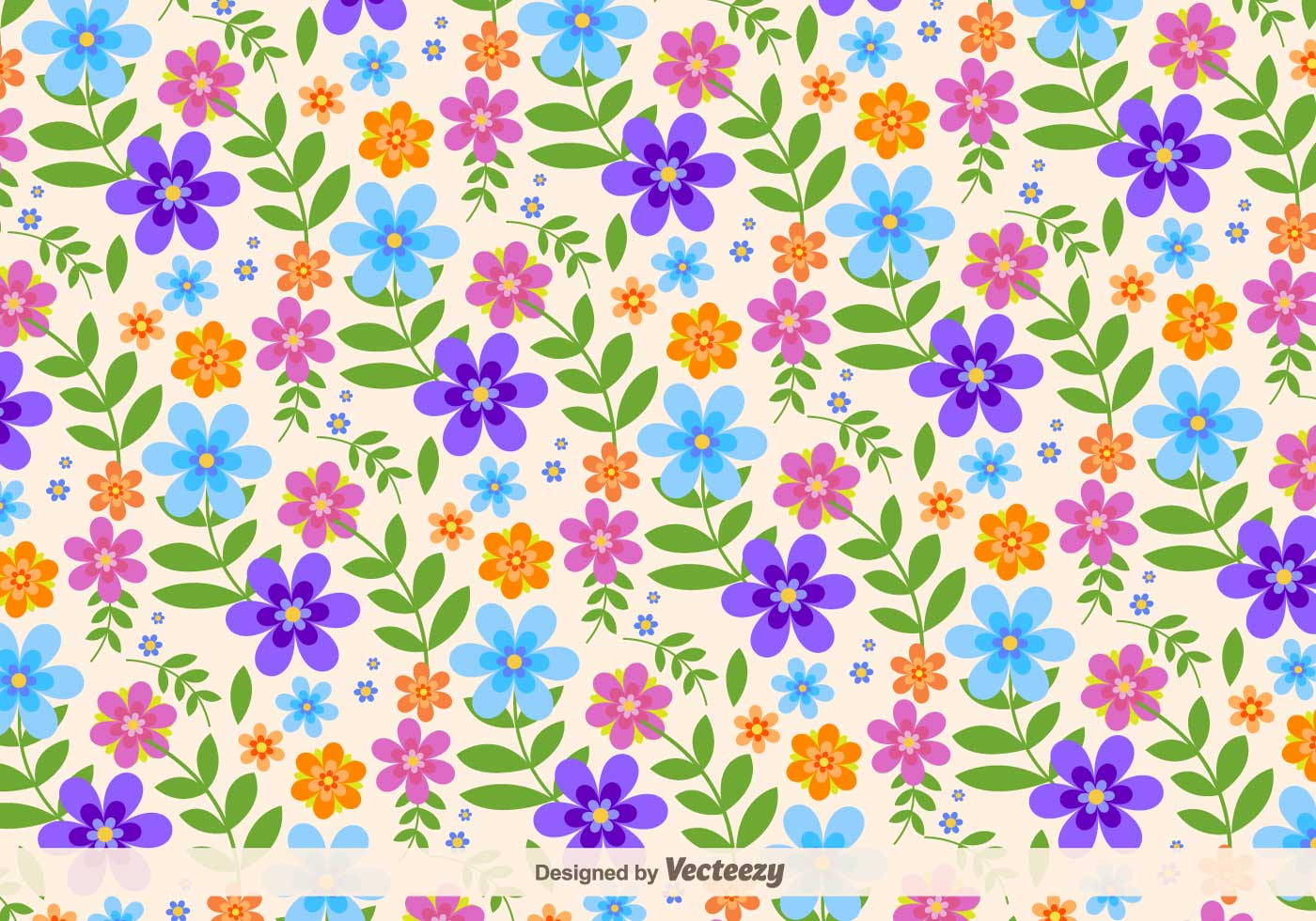 Floral retro vector background download free vector art stock graphics images - Floral background ...