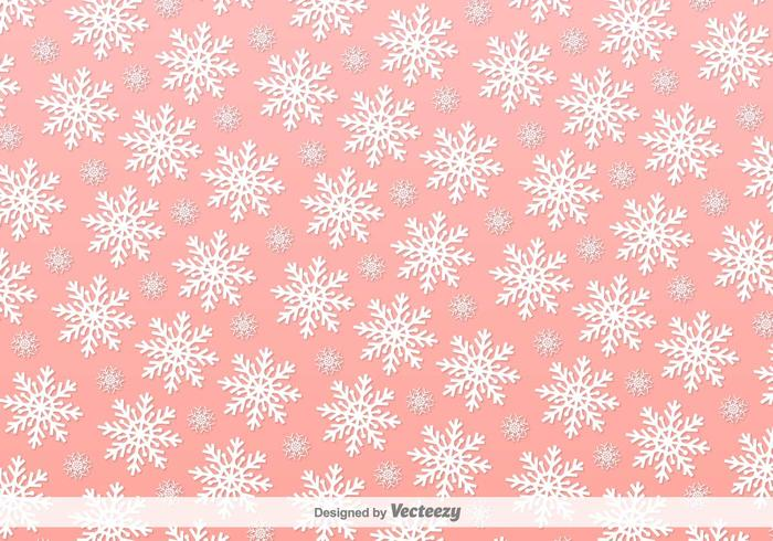 Snowflakes Pink Vector Background