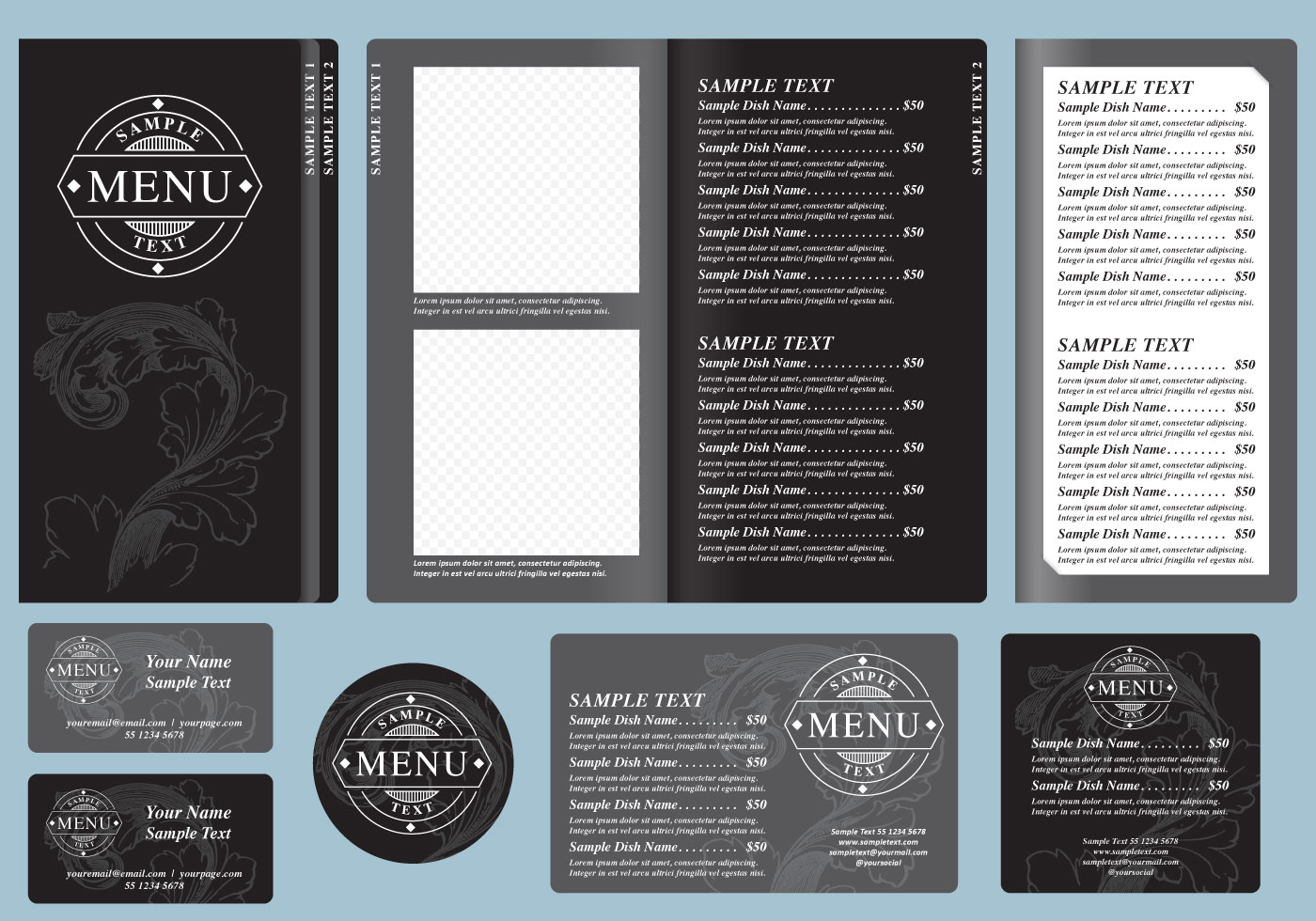 Free menu template choice image template design ideas for Volere template free download