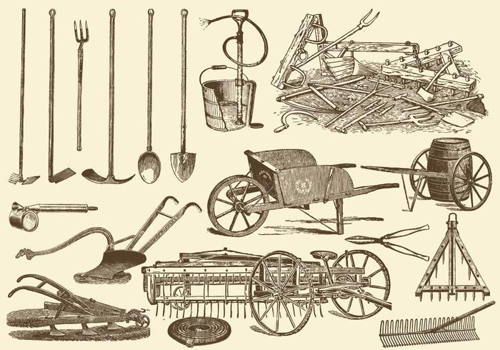 Landwirtschaftliche Werkzeuge vektor
