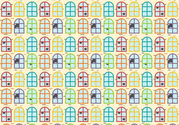Colorful Broken Windows Vector