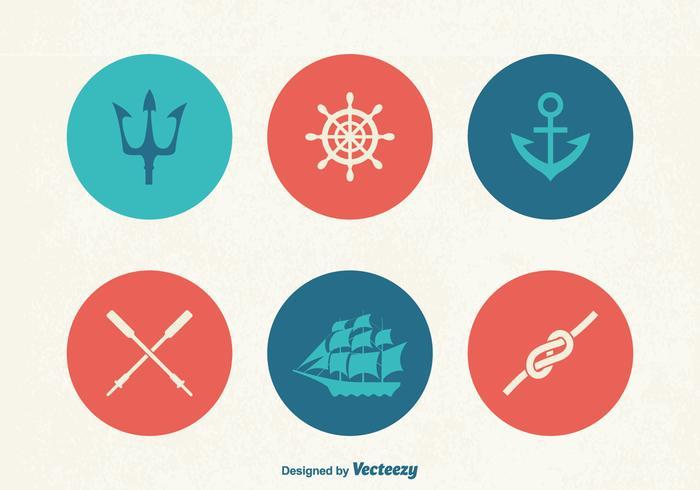 Ícones de vetor marinho grátis