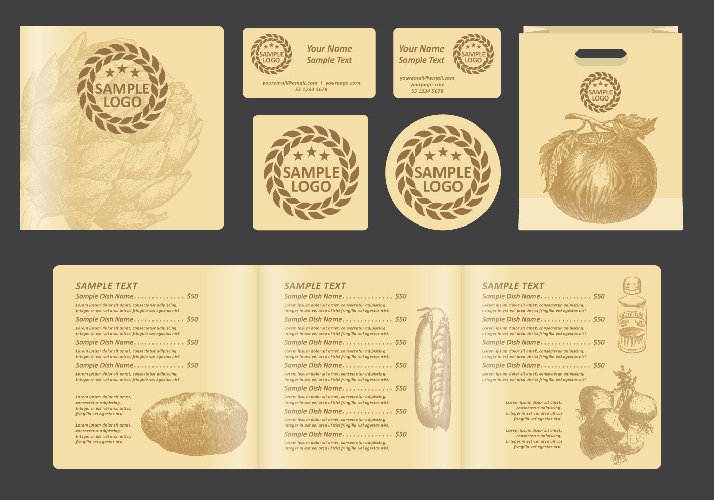 vintage menu template free vector art - (36511 free downloads)