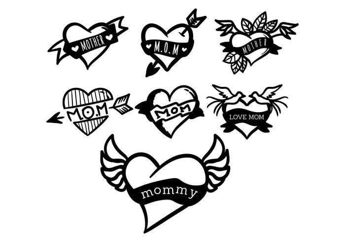 Mom Tattoo Vector