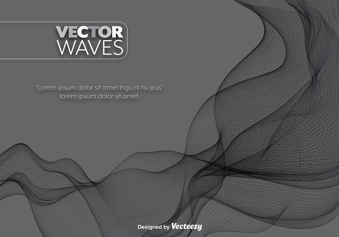 Vector Black Abstract Wave Element
