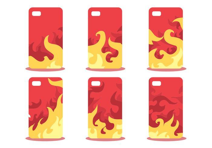 Firey teléfono caso patrón conjunto de vectores