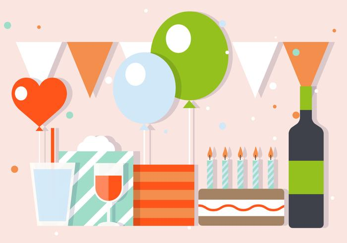 Free Party And Celebration Vector Illustration
