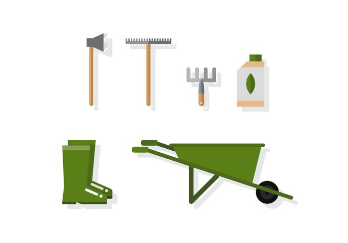 Vector Green Gardening Icons