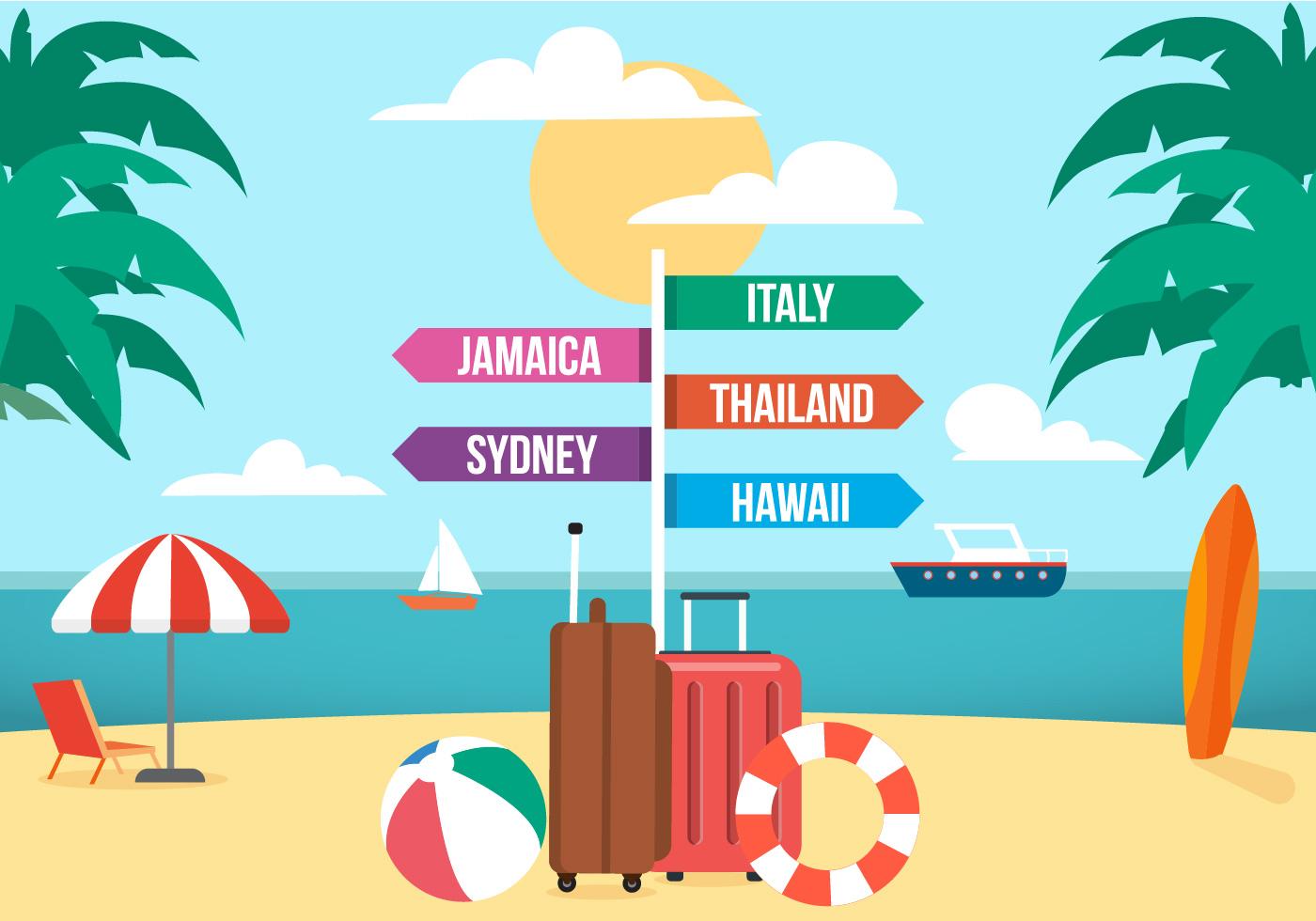 Free Travel Vector Illustration Download Free Vector Art