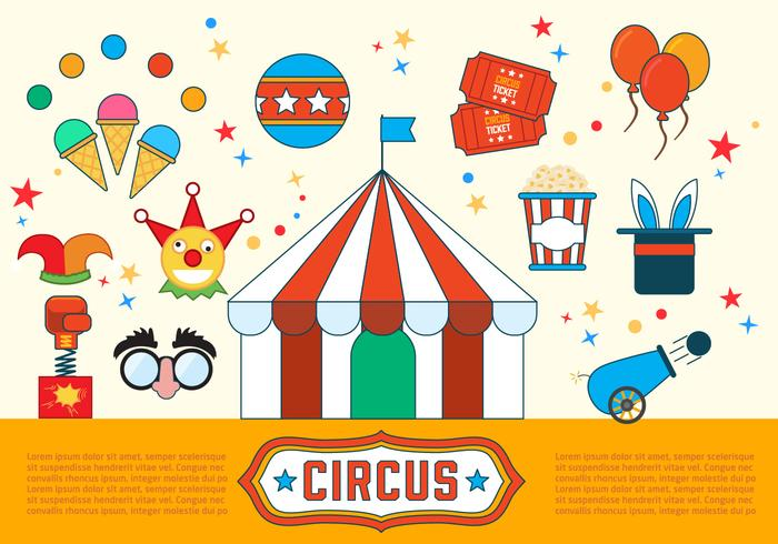 Circus Vector Illustrations