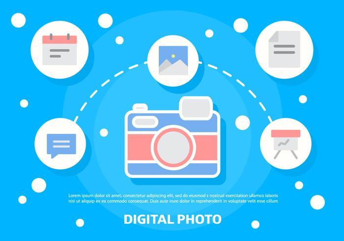 Illustration vectorielle gratuite de photos numériques